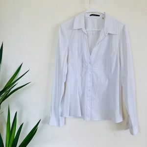 Tahari White Button Down Shirt